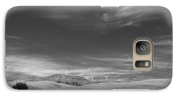 Galaxy Case featuring the photograph Windmills In The Distant Hills by Kathleen Grace
