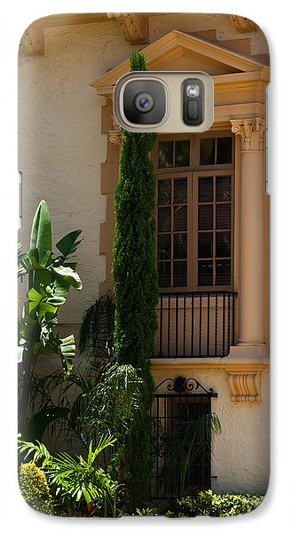 Galaxy Case featuring the photograph Window At The Biltmore by Ed Gleichman