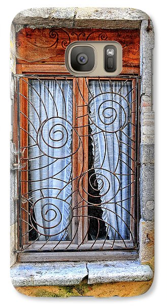 Galaxy Case featuring the photograph Window Provence France by Dave Mills