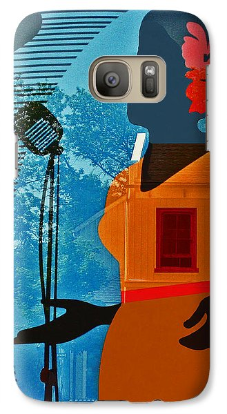 Galaxy Case featuring the photograph Window To My Soul by Barbara McMahon