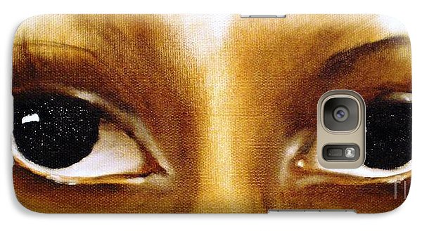 Galaxy Case featuring the painting Window To The Soul by Annemeet Hasidi- van der Leij