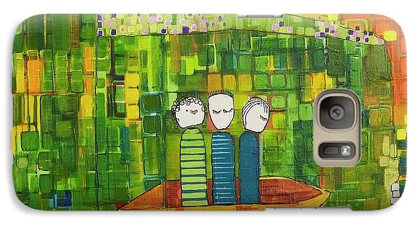 Galaxy Case featuring the painting Wink Blink And Nod by Donna Howard