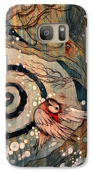 Galaxy Case featuring the painting Winter Becoming by Sandro Ramani
