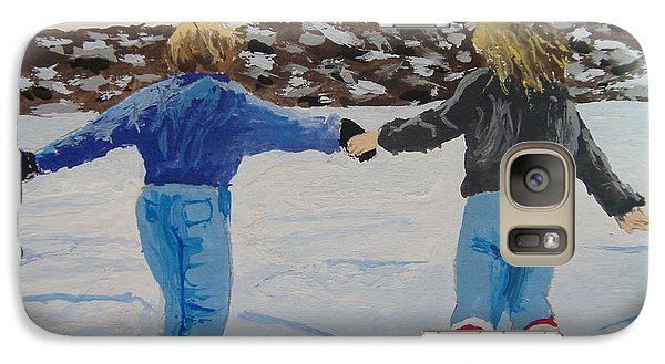 Galaxy Case featuring the painting Winter Fun by Norm Starks