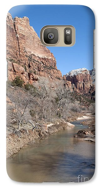 Galaxy Case featuring the photograph Winter In Zion 2 by Bob and Nancy Kendrick
