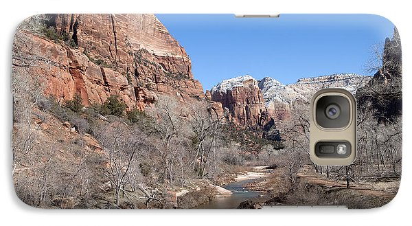 Galaxy Case featuring the photograph Winter In Zion by Bob and Nancy Kendrick
