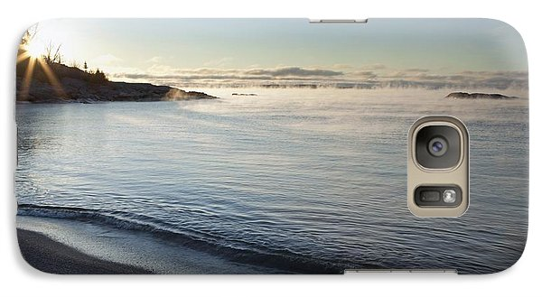 Galaxy Case featuring the photograph Winter Mist On Lake Superior At Sunrise by Susan Dykstra
