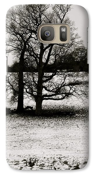 Galaxy Case featuring the photograph Winter Oaks by John Colley