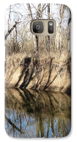 Galaxy Case featuring the photograph Winter River Reflections by Rebecca Overton