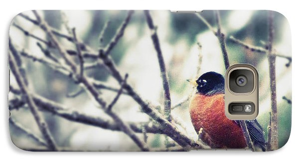 Galaxy Case featuring the photograph Winter Robin by Robin Dickinson