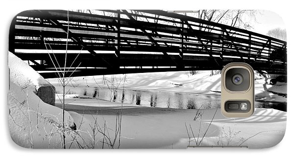 Galaxy Case featuring the photograph Winter Splendor In B And W by Janice Adomeit