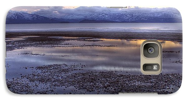 Galaxy Case featuring the photograph Winter Sunset by Michele Cornelius