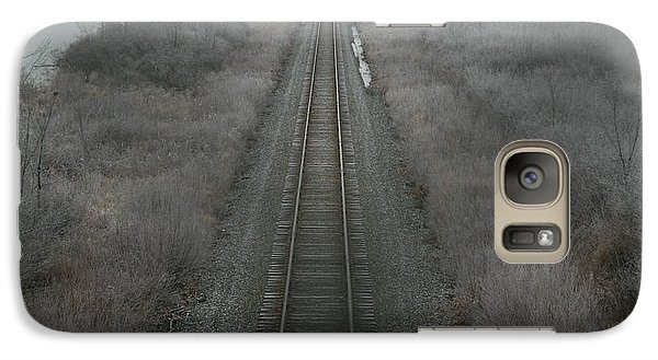 Galaxy Case featuring the photograph Winter Tracks  by Neal Eslinger