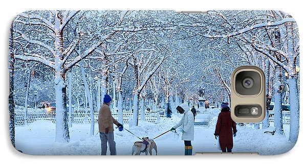 Galaxy Case featuring the photograph Winter Twilight Walk by Susan Cole Kelly
