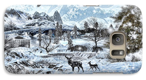 Winter Wonderland Galaxy Case by Lourry Legarde