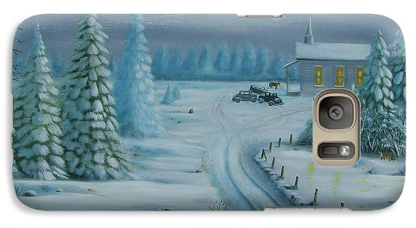 Galaxy Case featuring the painting Winter Worship  by Gene Gregory