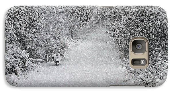 Galaxy Case featuring the photograph Winter's Trail by Elizabeth Winter