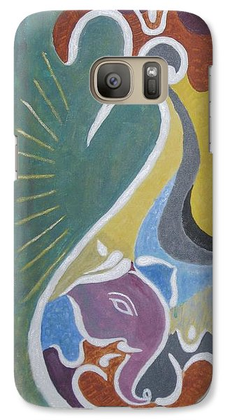 Galaxy Case featuring the painting Wisdom And Peace by Sonali Gangane