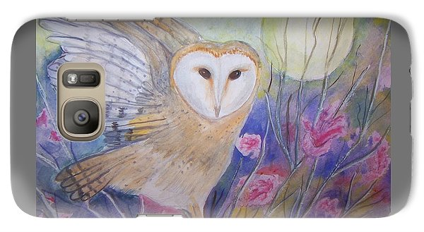 Galaxy Case featuring the painting Wise Moon by Belinda Lawson