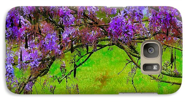 Galaxy Case featuring the photograph Wisteria Bower by Judi Bagwell
