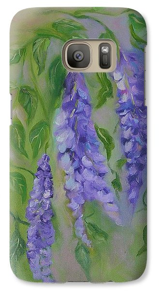 Galaxy Case featuring the painting Wisteria by Carol Berning
