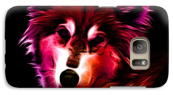 Galaxy Case featuring the digital art Wolf - Red by James Ahn
