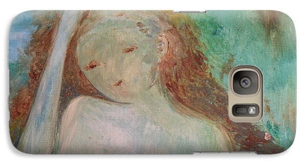 Galaxy Case featuring the painting Woman Of Sorrows by Laurie L