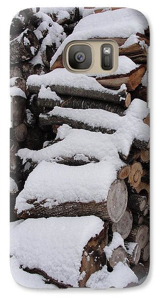 Galaxy Case featuring the photograph Wood Pile by Tiffany Erdman