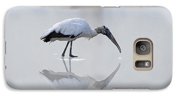 Galaxy Case featuring the photograph Wood Stork Eating by Dan Friend