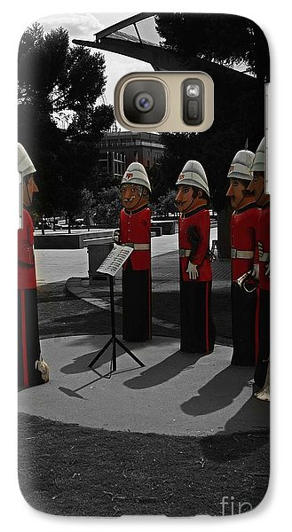 Galaxy Case featuring the photograph Wooden Bandsmen by Blair Stuart