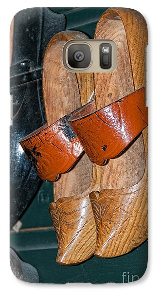 Galaxy Case featuring the digital art Wooden Shoe Sandals by Carol Ailles