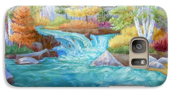 Galaxy Case featuring the painting Woodland Stream by Irene Hurdle