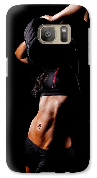 Galaxy Case featuring the photograph Workout Girl by Jim Boardman