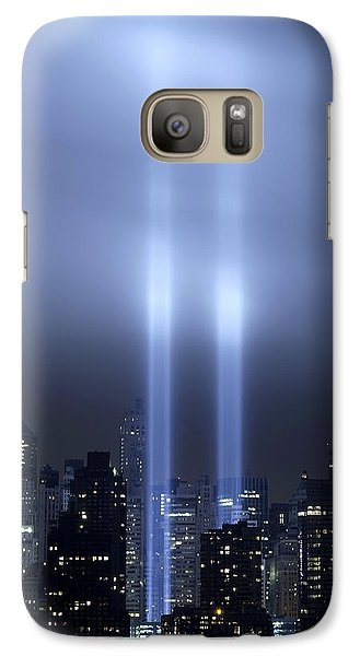 Galaxy Case featuring the photograph World Trade Center Memorial Lights by Michael Dorn