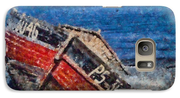 Galaxy Case featuring the painting Wrecked And Abandoned  by Elizabeth Coats