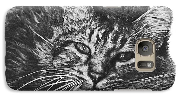 Galaxy Case featuring the drawing Wyatt by Marianne NANA Betts