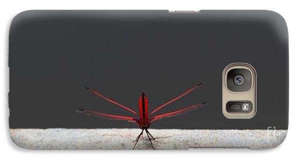 Galaxy Case featuring the photograph X Wing Dragonfly by Nola Lee Kelsey