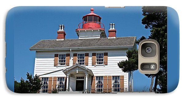Galaxy Case featuring the photograph Yaquina Bay Lighthouse by Nick Kloepping