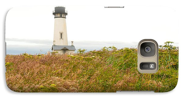 Galaxy Case featuring the photograph Yaquina Head Lighthouse In Oregon by Artist and Photographer Laura Wrede