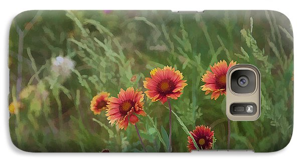 Galaxy Case featuring the photograph Yawn...more Flowers by John Crothers