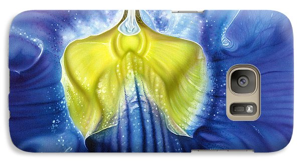 Galaxy Case featuring the painting Yellow And Blue by Dan Menta