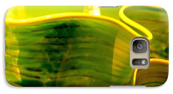 Galaxy Case featuring the photograph Yellow And Green by Artist and Photographer Laura Wrede
