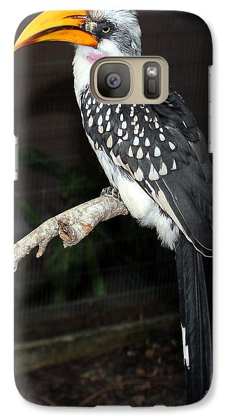 Galaxy Case featuring the photograph Yellow-billed Hornbill by Kathy  White