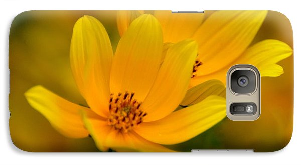 Galaxy Case featuring the photograph Yellow Blaze by Marty Koch