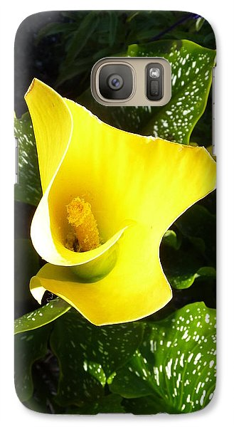 Galaxy Case featuring the photograph Yellow Calla Lily by Carla Parris