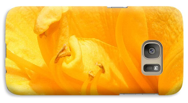 Galaxy Case featuring the photograph Yellow Day Lily by Michael Waters