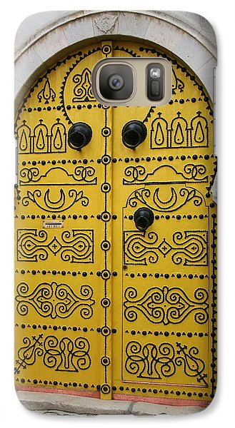Galaxy Case featuring the photograph Yellow Door In Bardo by Laurel Talabere