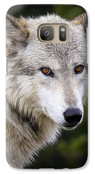 Galaxy Case featuring the photograph Yellow Eyes by Steve McKinzie