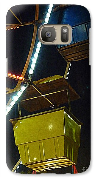 Galaxy Case featuring the photograph Yellow Ferris Wheel Bucket by Renee Trenholm