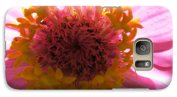 Galaxy Case featuring the photograph Yellow Flowerettes Around by Tina M Wenger